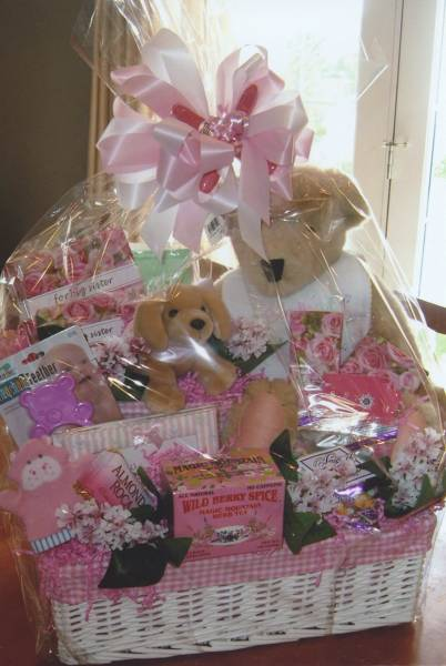 Baby Gift Baskets For Girl : Baby girl beautiful photos gift baskets