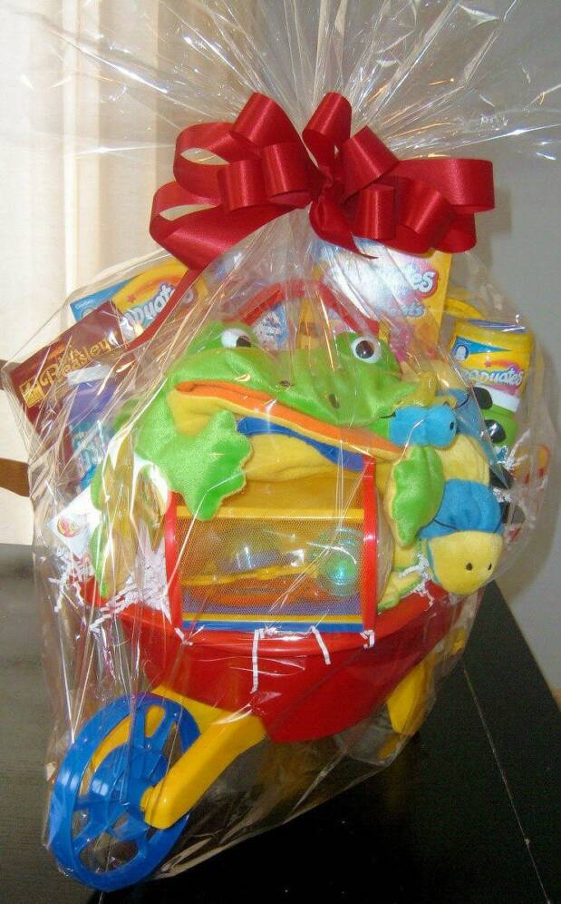 Image result for basket of goodies for kids